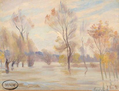 Charles WISLIN (1852-1932)  L'inondation...