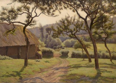 Charles WISLIN (1852-1932)  Paysage à la...