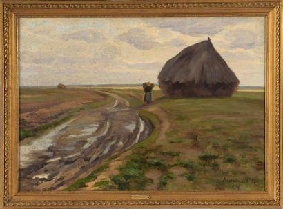 Charles WISLIN (1852-1932)  La meule au Puiselet...