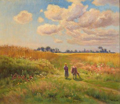 Charles WISLIN (1852-1932)  Les blés mûrs...