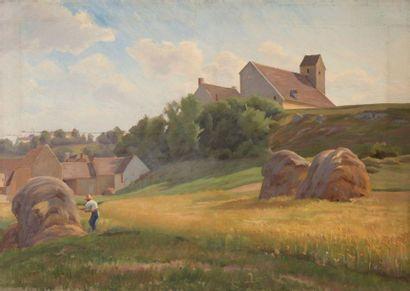 Charles WISLIN (1852-1932)  Le bottelage...