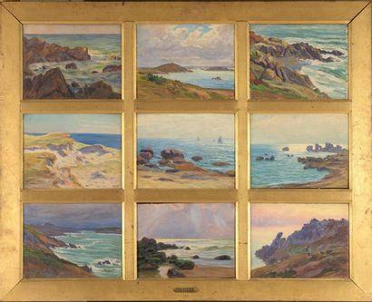 Charles WISLIN (1852-1932)  Roches à Trestraou...
