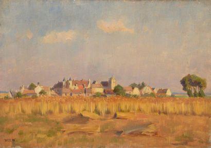 Charles WISLIN (1852-1932)  Les blés à Moussy...