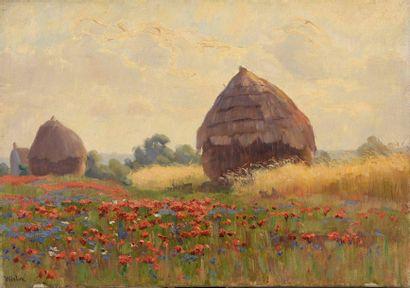 Charles WISLIN (1852-1932)  Les meules et...