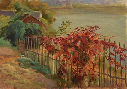 Charles WISLIN (1852-1932)  La vigne à l'automne...