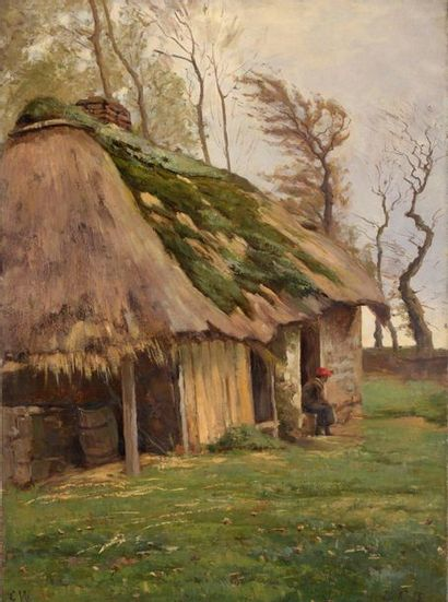 Charles WISLIN (1852-1932)  Berger assis...
