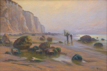 Charles WISLIN (1852-1932)  Pêcheurs au crépuscule...
