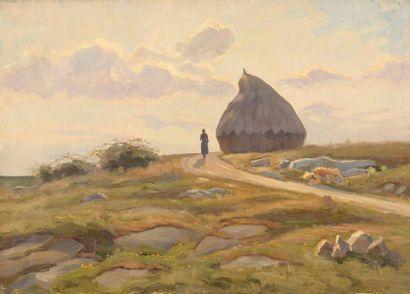 Charles WISLIN (1852-1932)  La meule à Laveau,...