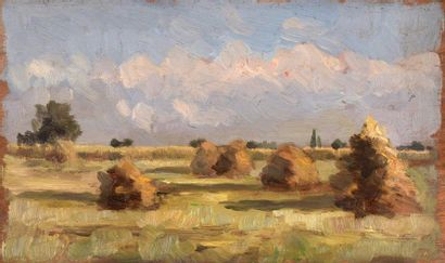 Charles WISLIN (1852-1932)  Les meules au...