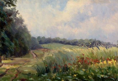 Charles WISLIN (1852-1932)  Les coquelicots...