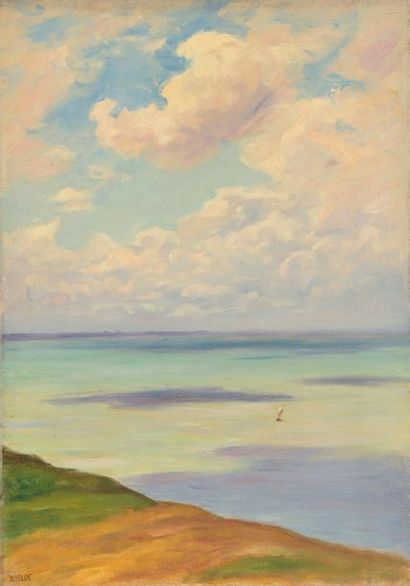 Charles WISLIN (1852-1932)  Voilier au large,...
