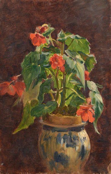 Charles WISLIN (1852-1932)  Vase de fleurs...