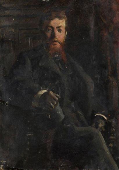 Georges ROUX (1850-1929)  Portrait de Charles...