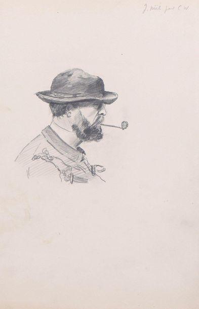 Charles WISLIN (1852-1932) Lot de trois chemises...