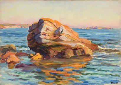 Charles WISLIN (1852-1932)  Rochers de Stang...