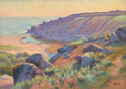 Charles WISLIN (1852-1932)  La plage de Rospico...