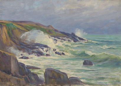 Charles WISLIN (1852-1932)  Temps agité sur...