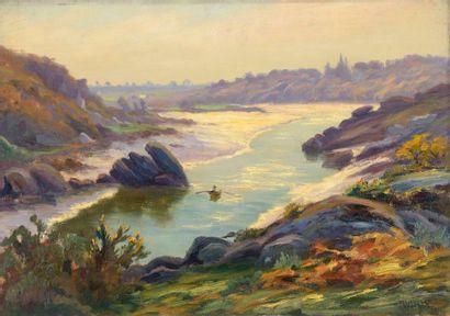Charles WISLIN (1852-1932)  La baie de Henant...