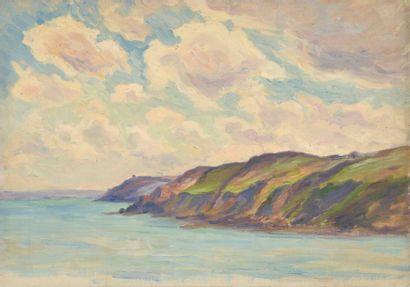 Charles WISLIN (1852-1932)  Côte de Saint-Philibert,...