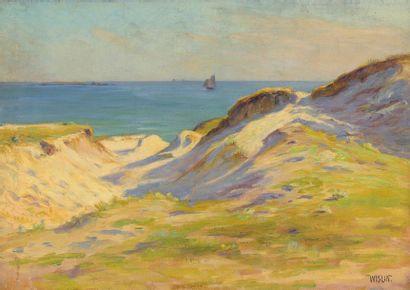 Charles WISLIN (1852-1932)  Dunes à Stang...