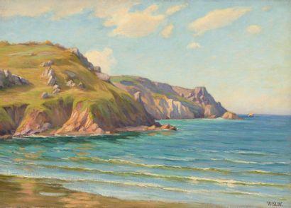 Charles WISLIN (1852-1932)  Plage du Palus,...