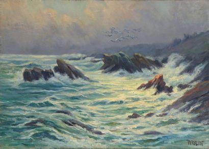 Charles WISLIN (1852-1932)  Temps gris, Keranglas...