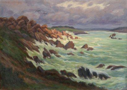 Charles WISLIN (1852-1932)  Voilier par mer...