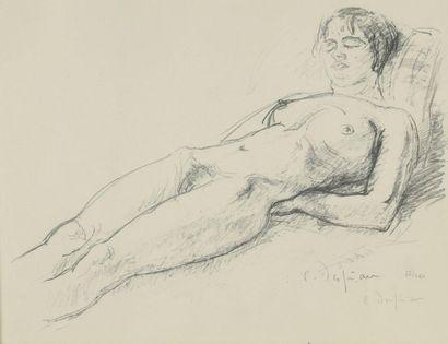 Charles DESPIAU (1874-1946)  Femme allongée...