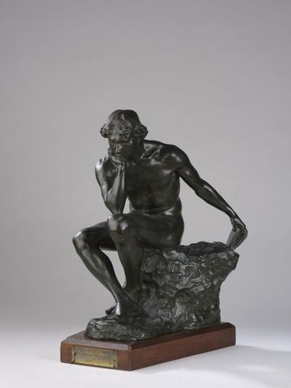 Raoul LAMOURDEDIEU (1877-1953)  Le Penseur...