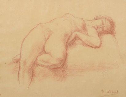 Robert WLÉRICK (1882-1944)  Nu allongé...