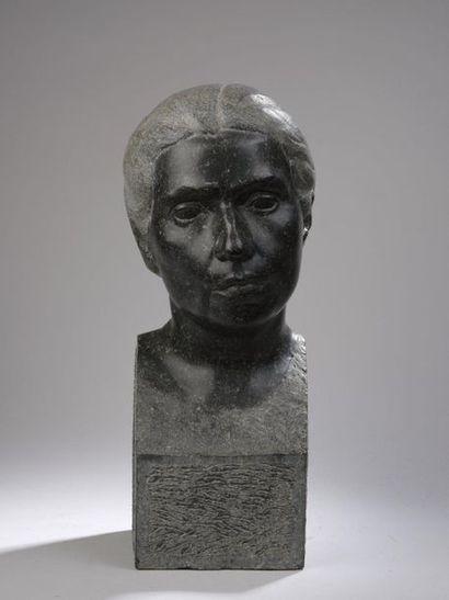 Auguste HENG (1891-1968)  Buste de femme,...