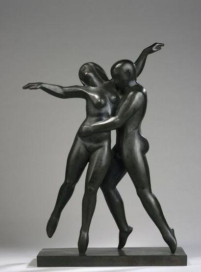 Ferdinand PARPAN (1902-2004) Couple dansant,...