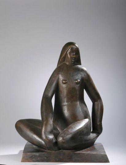 Joseph CSAKY (1888-1971) Jeune fille nue...