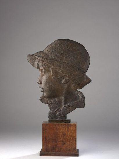 Richard GUINO (1890-1973)  Profil de jeune...