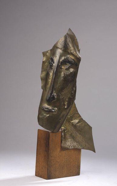 Gio COLUCCI (1892-1974)  Tête d'homme  Masque...