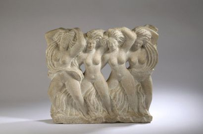 André DELUOL (1909-2003)  Quatre danseuses,...