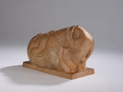 René MÉRELLE (1903-1990).   Cochon d'inde,...