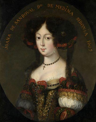 École ESPAGNOLE, 1605  Portrait de Joana...