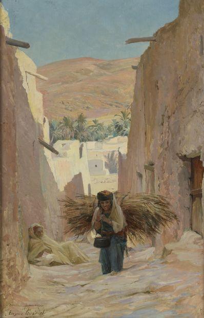 Eugène GIRARDET (1853-1907)  Porteuse de...