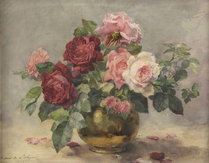 Louis Marie DE SCHRYVER (1862-1942)  Vase...