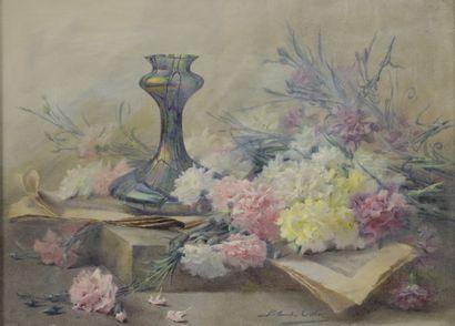Blanche ODIN (1865-1957)  Jetée de fleurs...