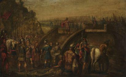 École FLAMANDE vers 1640  La bataille du...