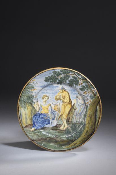 ITALIE, CASTELLI, XVIIIe siècle  ASSIETTE...