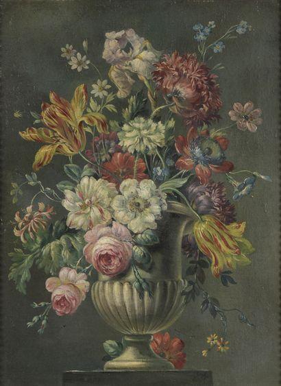 École ITALIENNE vers 1800  Vase de fleurs...