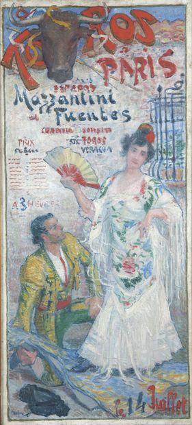 Jean DIFFRE (1864-1921)  Projet d'affiche...