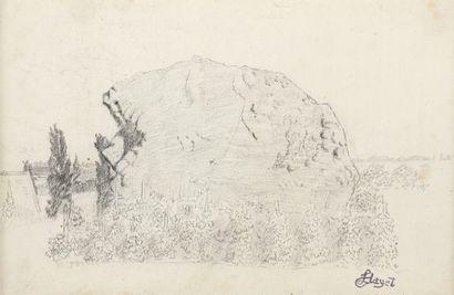Louis HAYET (1864-1940)   Vignes et rochers...