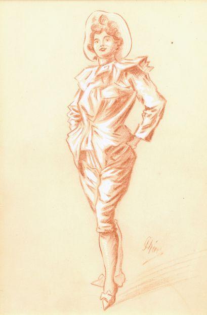 Jules CHÉRET (1836-1932)  La femme moderne...
