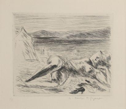 André DUNOYER DE SEGONZAC (1884 - 1974)  La...