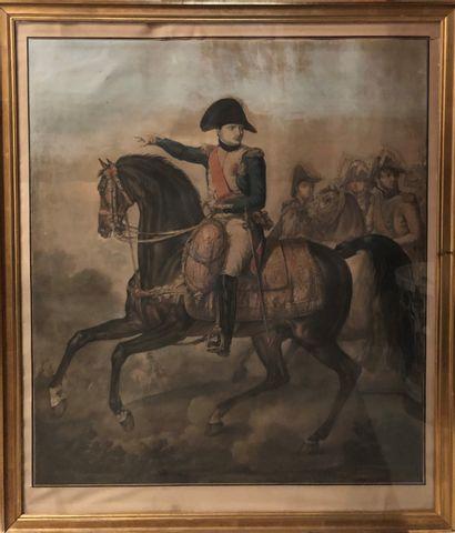 D'après Carle VERNET  Napoléon à cheval  Gravure....