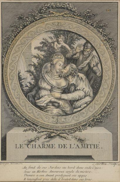 Broyer, Berthet  Le Charme de l'Amitié  Gravure...